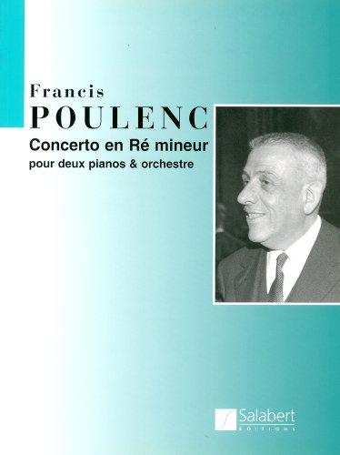 プーランク: 2台ピアノのための協奏曲/サラベール社/スコア...