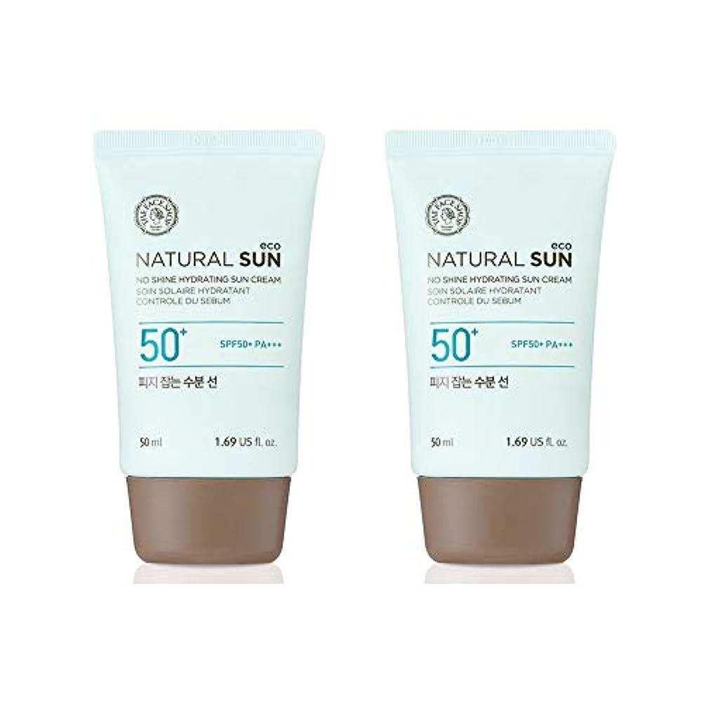 に向けて出発九月飛躍ザ?フェイスショップネチュロルソンエコフィジーサン?クリームSPF50+PA+++50ml x 2本セット韓国コスメ、The Face Shop Natural Sun Eco No Shine Hydrating Sun...