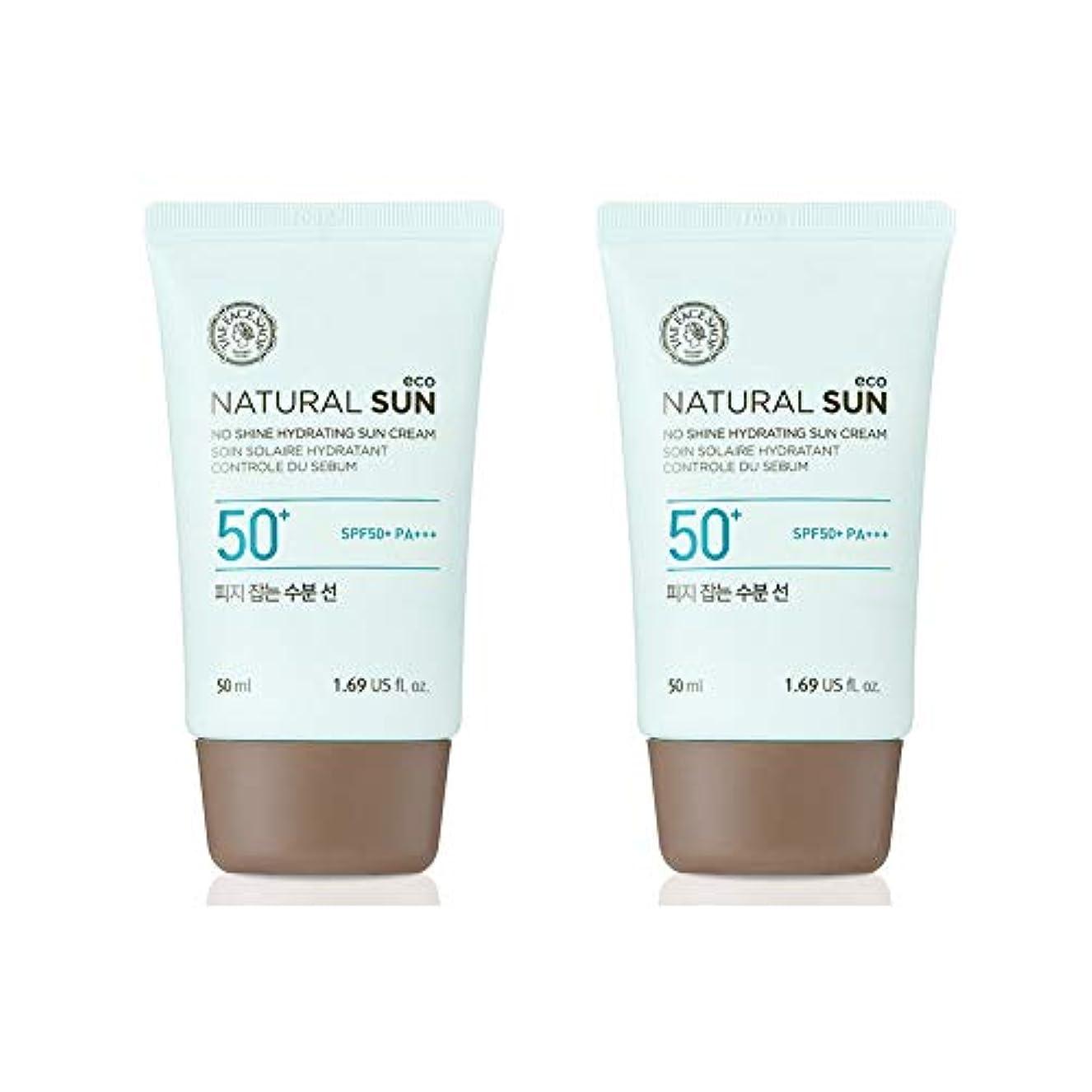 遷移に勝る振り返るザ?フェイスショップネチュロルソンエコフィジーサン?クリームSPF50+PA+++50ml x 2本セット韓国コスメ、The Face Shop Natural Sun Eco No Shine Hydrating Sun...