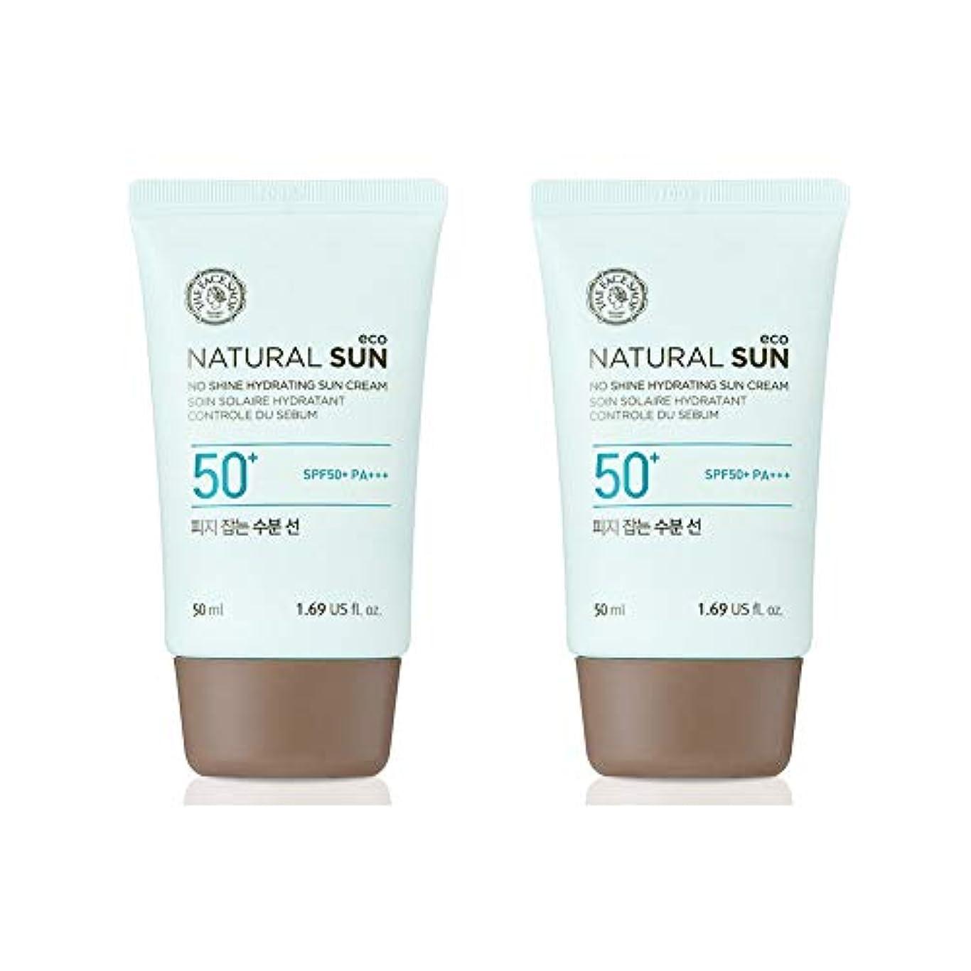 ヒロイック前提条件旅行代理店ザ?フェイスショップネチュロルソンエコフィジーサン?クリームSPF50+PA+++50ml x 2本セット韓国コスメ、The Face Shop Natural Sun Eco No Shine Hydrating Sun Cream SPF50+ PA+++ 50ml x 2ea Set Korean Cosmetics [並行輸入品]