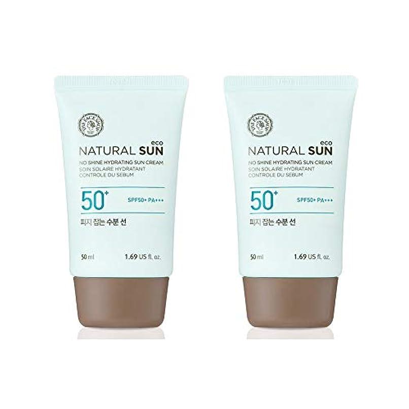 ものパイプ共産主義ザ?フェイスショップネチュロルソンエコフィジーサン?クリームSPF50+PA+++50ml x 2本セット韓国コスメ、The Face Shop Natural Sun Eco No Shine Hydrating Sun...