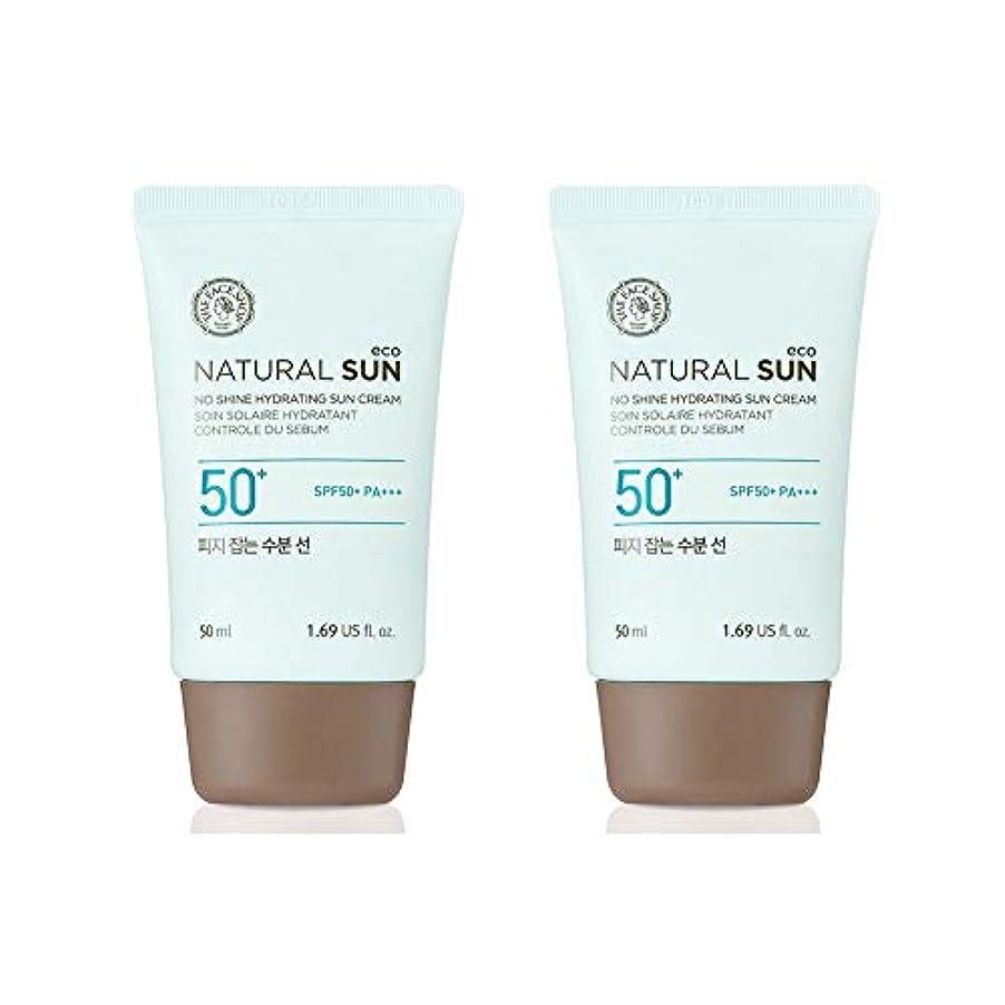 真実船員操作ザ?フェイスショップネチュロルソンエコフィジーサン?クリームSPF50+PA+++50ml x 2本セット韓国コスメ、The Face Shop Natural Sun Eco No Shine Hydrating Sun...