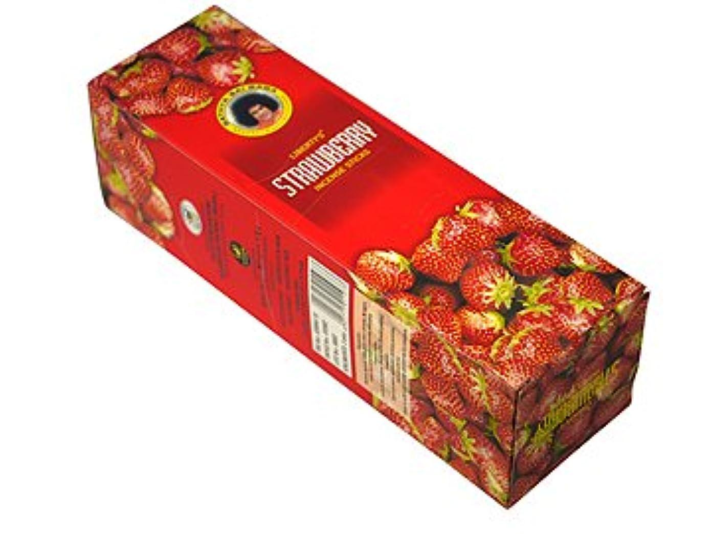 農学染料参照LIBERTY'S(リバティーズ) ストロベリー香スクエアパック スティック STRAWBERRY 25箱セット