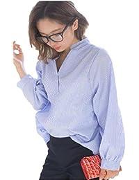 (サコイユ) sakoiyu レディース トップス シャツ ブラウス 背中 ボタン ストライプ カットソー 夏 秋 冬 Tシャツ