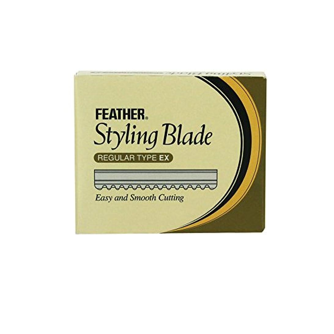 冷ややかなスマイル考慮フェザースタイリングブレイドレギュラータイプEX CGEX-10 替刃
