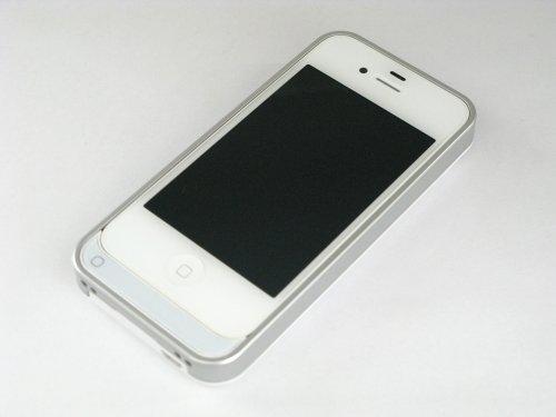 アウトレットamix iPhone4/4S対応 バッテリーケース PROTECTION FIX エナジーバンパー for iPhone4/4S 1500mAh グロッシーホワイト