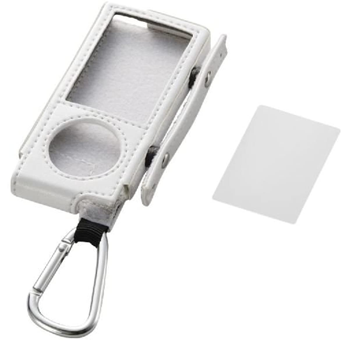 夢中吸う光ELECOM 5th(2009年発売) iPod nano 巻き取りソフトレザーケース ホワイト AVA-N09LRWH