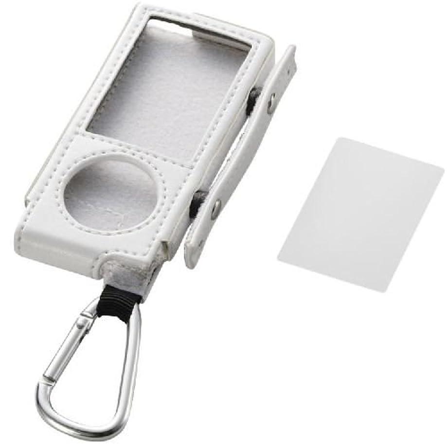 星骨髄パーチナシティELECOM 5th(2009年発売) iPod nano 巻き取りソフトレザーケース ホワイト AVA-N09LRWH