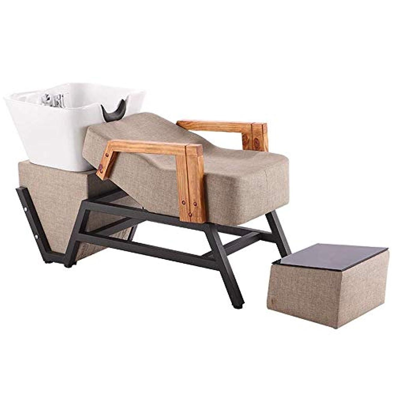 重々しい蓄積するマークダウンサロン用シャンプー椅子とボウル、 サロンボウルシャンプーシンク逆洗椅子理髪美容スパ機器 ッド理髪店専用