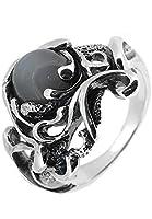 [スプルーシュ]Sploosh シルバー 925 R-47 リング 10~18号 (16号) グレームーンストーン メンズ 指輪