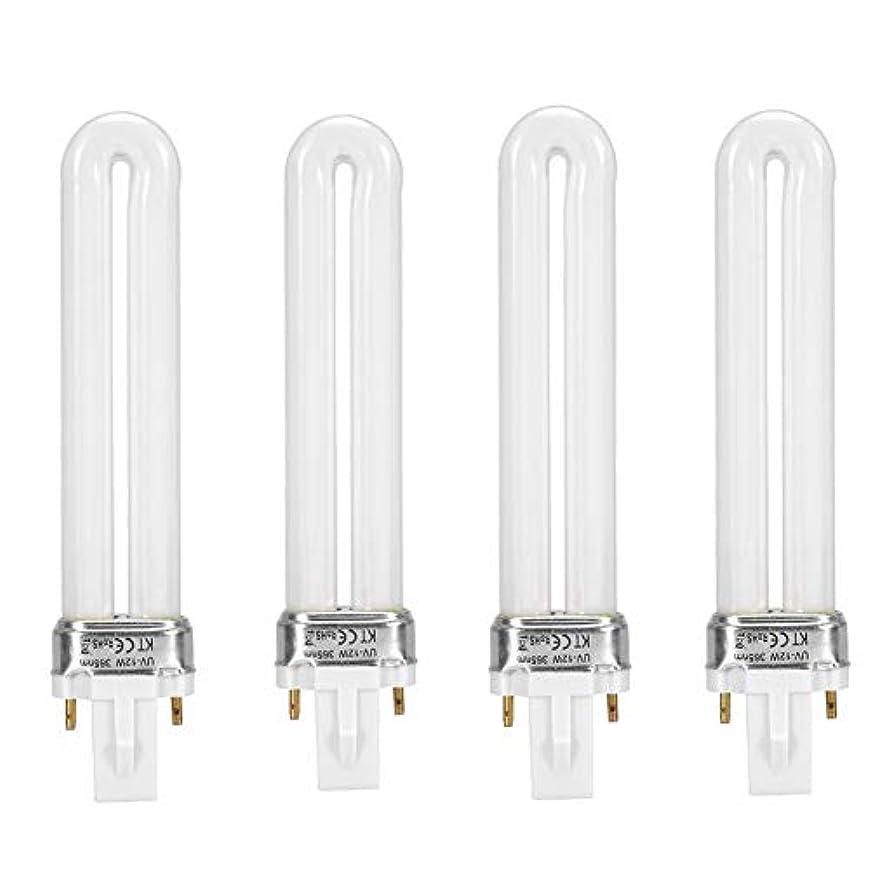シンボル目の前のネックレスUVライト 交換用電球 UVランプ 4本セット