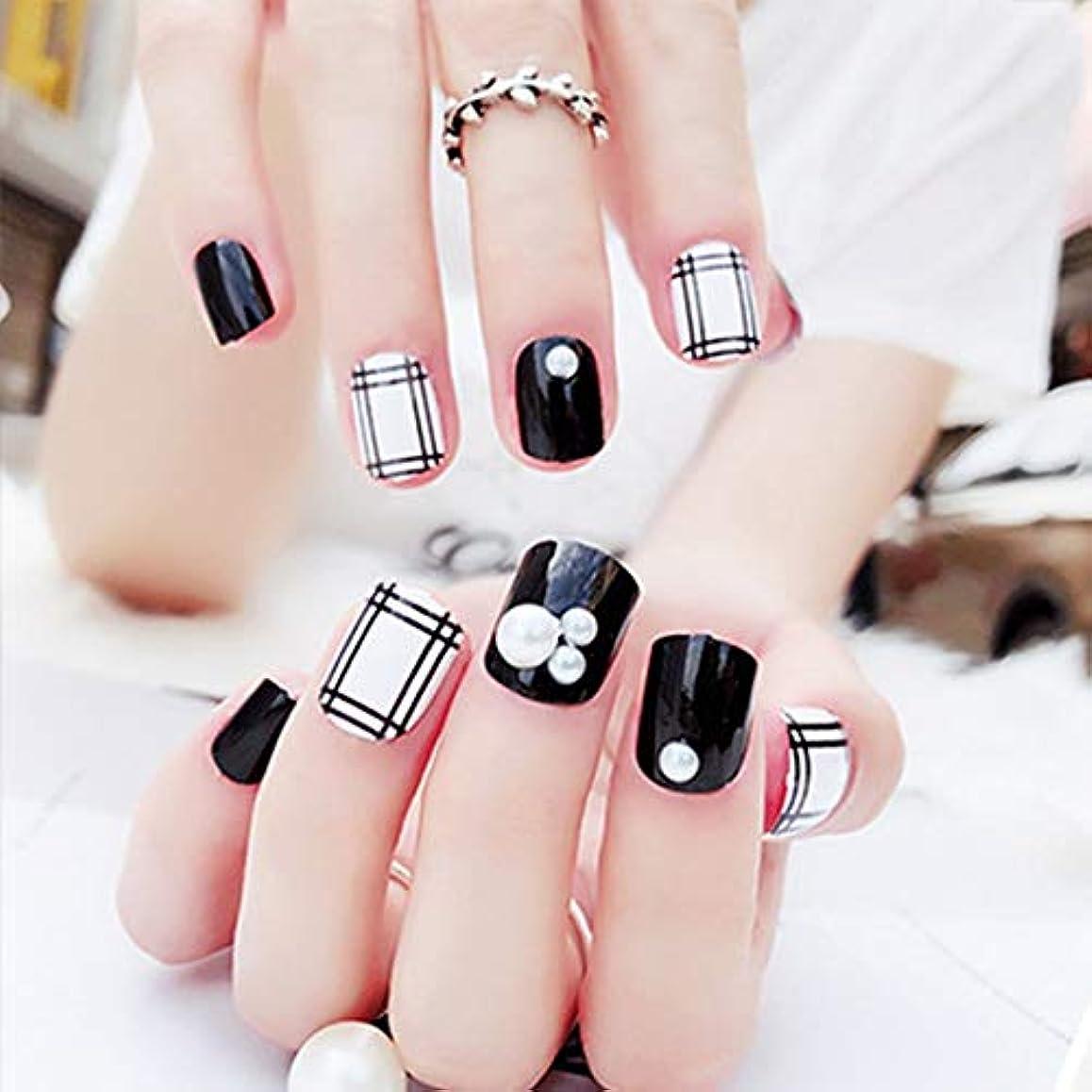 ポーク高尚な紳士ネイルステッカーアクリル偽ネイルフェイクネイルアート指の爪フルヒントソリッドネイルパッチステッカー (Panda)
