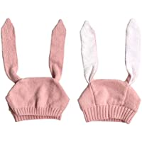 ベビーウサギ耳暖かい帽子、misaky幼児少年少女ニットかぎ針編みビーニーキャップ