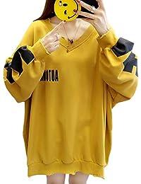 symuoqing トレーナー レディース コウモリの袖 ゆったりトップス 長袖 レディース プルオーバー 通勤 通学 パーカー カジュアル