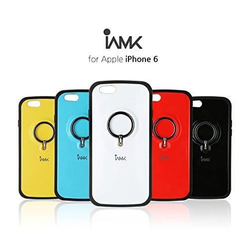 iAMK Finger Ring Bumper Case 落下防止リング付きケース for iPhone 6 ブラック