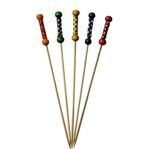 キッチン用品 竹串 みやこ串 50本 赤 15cm おせち料理飾り串 89-15 送料無料
