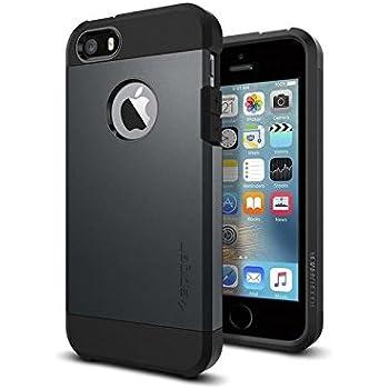 【Spigen】 スマホケース iPhone SE ケース / iPhone5s ケース / iPhone5 ケース 対応 米軍MIL規格取得 二重構造 耐衝撃 傷防止 カメラ保護 衝撃 吸収 タフ・アーマー 041CS20187 (メタルスレート)