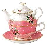 Royal Albert [ロイヤル・アルバート] チーキーピンク ティーフォーワン 一人用 ティーポット&ティーカップセット Cheeky Pink [並行輸入品]