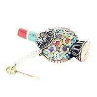 Sharplace チベット 嗅ぎタバコ スナッフボトル 鼻煙壺 伝統的な 金属 手工芸品 装飾 ターコイズ 綺麗