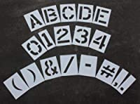 "Rae–12"" Megaキット再利用可能なプラスチックペイントステンシル、1/ 16"" Thick–文字、数字、および句読点–stl-116–8128"