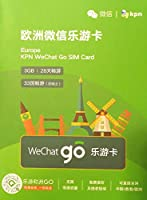 Wechat go ヨーロッパ周遊プリペイドSIMカード 28日間 4G/3Gデータ通信3GB