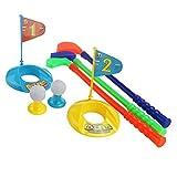 Pixnorスポーツおもちゃセット子供キッズプラスチックゴルフセットGolfer Toyカラフル