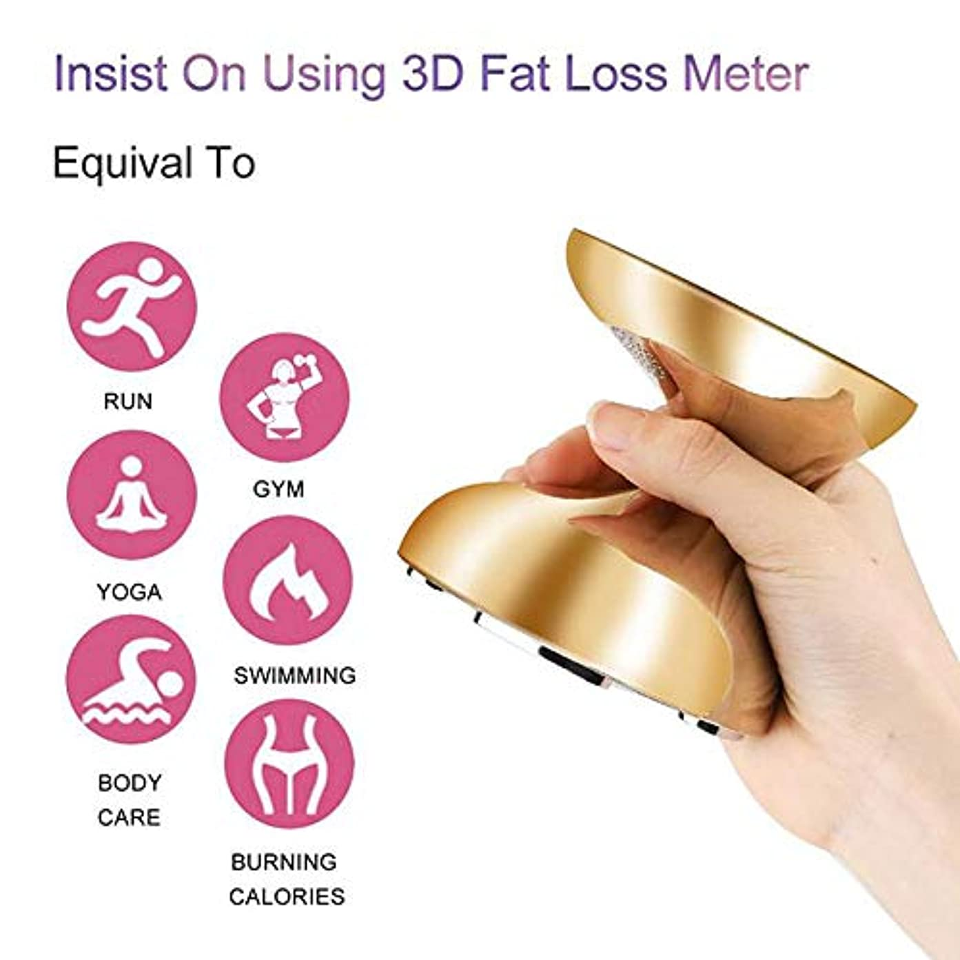 スポークスマン急襲繊維美容痩身ボディ楽器多機能 RF 超音波皮膚リフティング若返り脂肪バーナー高周波機器,Gold