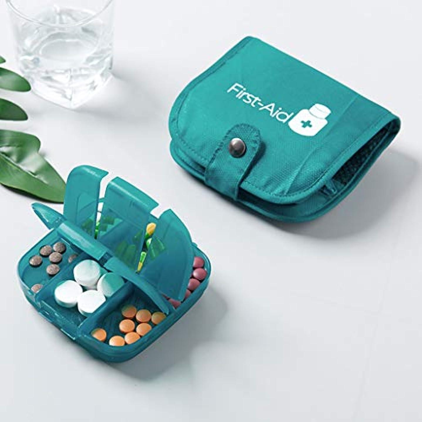 知的詳細に流体BBJOZ ポータブル半透明薬収納ボックス旅行薬袋薬パッケージ大容量薬収納包装箱収納袋 (Color : Green)