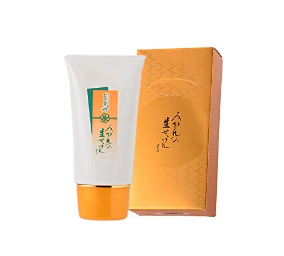 一般的にプロテスタント気をつけて美香柑 みかんの生せっけん 洗顔石鹸 無添加 泡立てネット付 チューブタイプ 70g