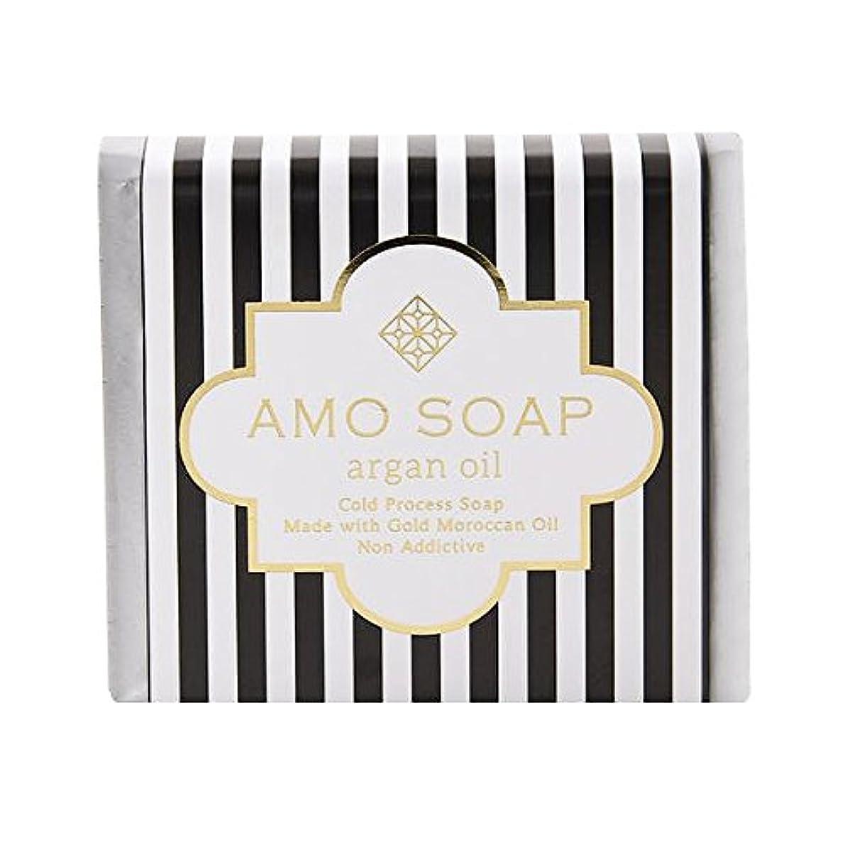 挨拶払い戻しフロントAMO SOAP(アモソープ) 洗顔せっけんアルガンオイル配合 1個 コールドプロセス製法 日本製 エイジングケア オリーブオイル シアバター