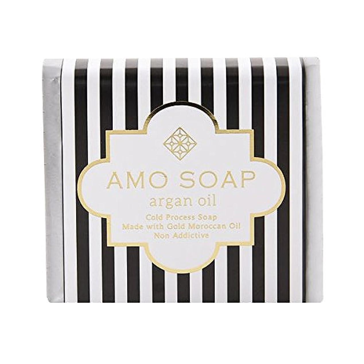 弾薬対処する見積りAMO SOAP(アモソープ) 洗顔せっけんアルガンオイル配合 1個 コールドプロセス製法 日本製 エイジングケア オリーブオイル シアバター