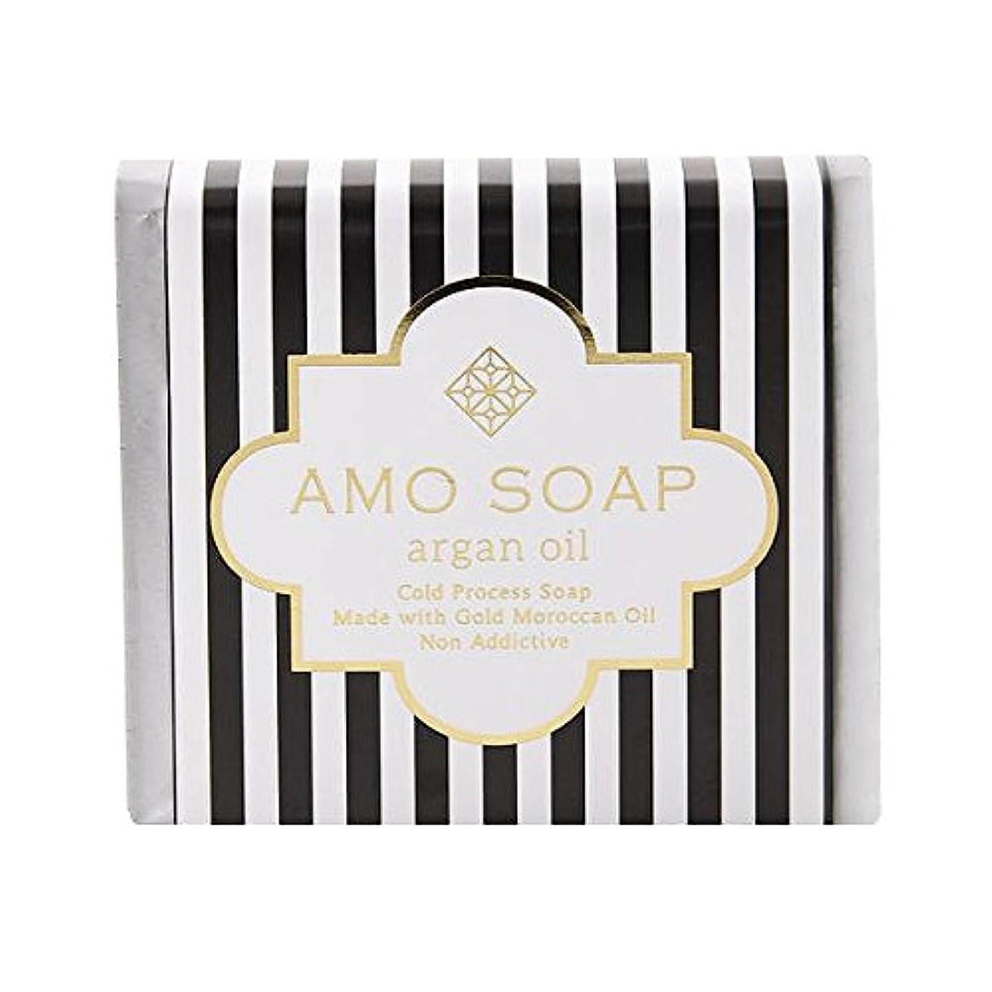 すでに尾ベースAMO SOAP(アモソープ) 洗顔せっけんアルガンオイル配合 1個 コールドプロセス製法 日本製 エイジングケア オリーブオイル シアバター