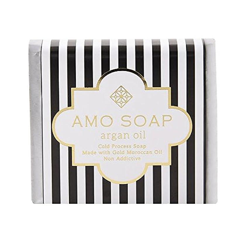 銀河新聞略奪AMO SOAP(アモソープ) 洗顔せっけんアルガンオイル配合 1個 コールドプロセス製法 日本製 エイジングケア オリーブオイル シアバター