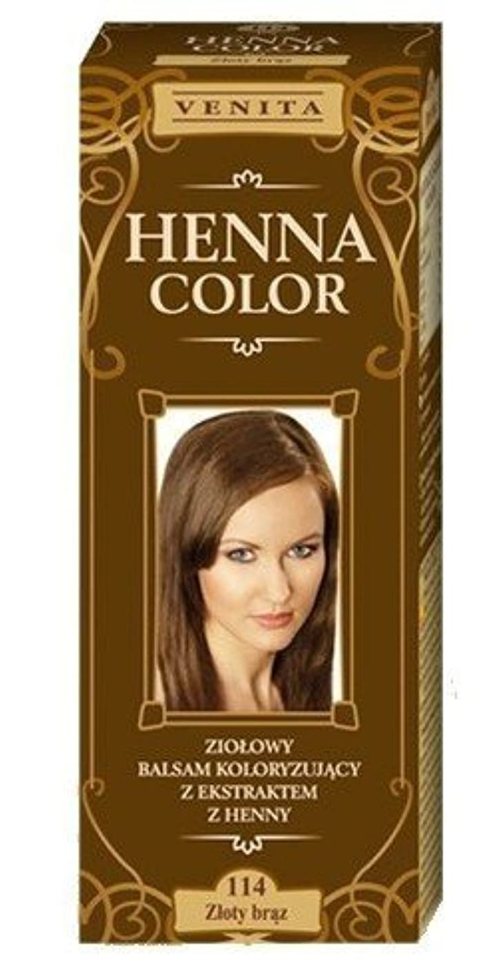 ヘナカラー114ゴールドブラウンヘアーバームヘアカラー自然の染毛剤の生態効果