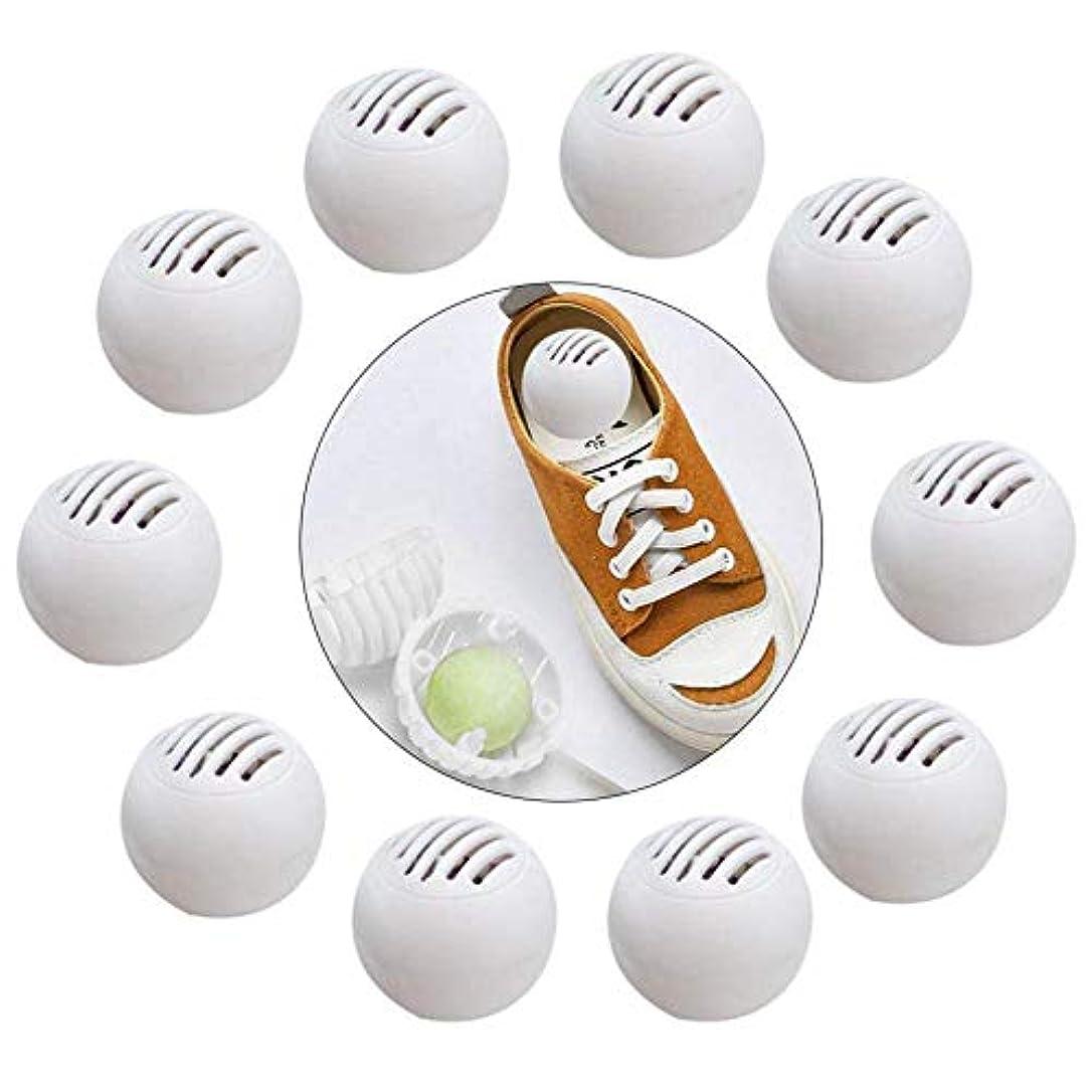 愛されし者抑圧者開示する脱臭ボール 消臭剤 芳香剤 靴用 再利用可能 抗菌性 耐久性 吸着力 抑制細菌 10個 靴/ジム/バッグ/車用