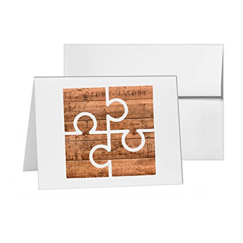 パズルボードゲームChallenge接続、空白カード招待パック、15カードで4x 6、空白でホワイト封筒スタイル17174