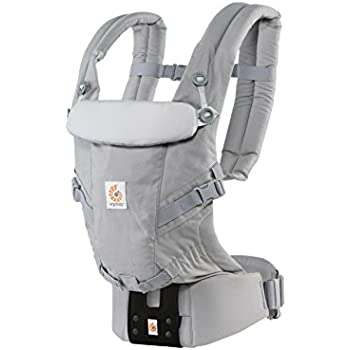 ERGO Baby 抱っこひも おんぶ可 [日本正規品保証付] (日本限定ベビーウエストベルト付) (洗濯機で洗える) 装着簡単 ベビーキャリア アダプト ADAPT パールグレー CREGBCAPEAGRY