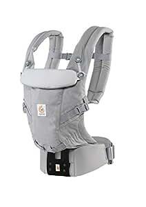 エルゴベビー(Ergobaby) 抱っこひも おんぶ可[日本正規品保証付] (日本限定ベビーウエストベルト付) (洗濯機で洗える)装着簡単 ベビーキャリア アダプト/パールグレー ADAPT CREGBCAPEAGRY