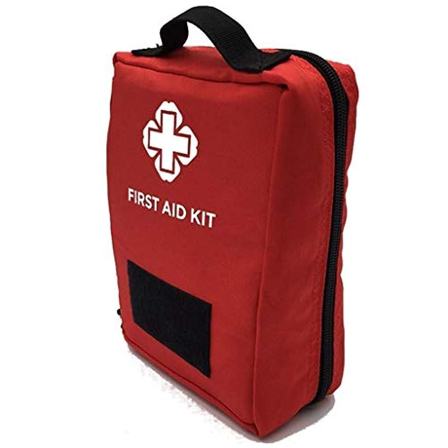 こしょうブラインド聴覚Yxsd 応急処置キット 緊急のキットの屋外の多機能旅行医療バッグ、応急処置キットの収納袋の付属品のウエストパック (Color : Red)