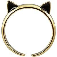 """AppleLatte """" CAT EARS """"ゴールドメッキ調節可能な猫リング"""