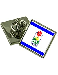 市 Carmiel イスラエルの国旗ラペルピンを刻印されたボックス