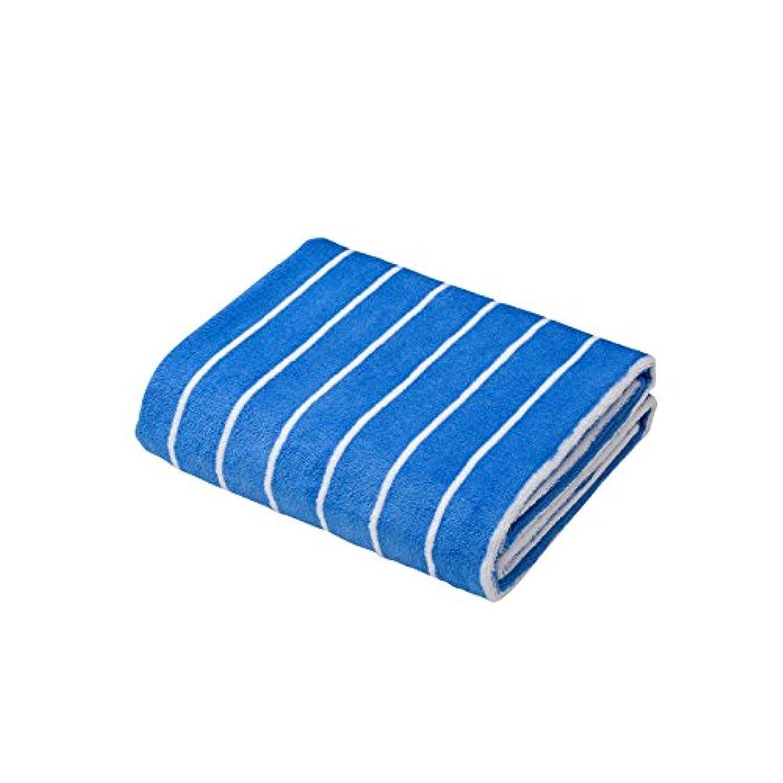 アーチモスマトリックスシービージャパン タオル ストライプ ブルー×ホワイト 速乾 ヘアドライタオル マイクロファイバー カラリクオ carari