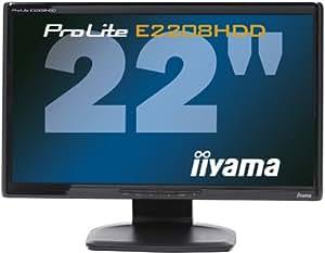 iiyama 21.5インチワイド液晶ディスプレイ 1920×1080(フルHD1080P)対応 2系統入力装備 マーベルブラック PLE2208HDD-B1