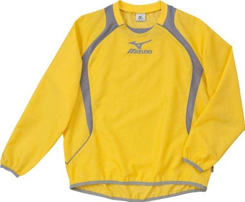 (ミズノ)MIZUNO フットボール ウインドブレーカーシャツ 62WS270 46 イエロー×グレー M