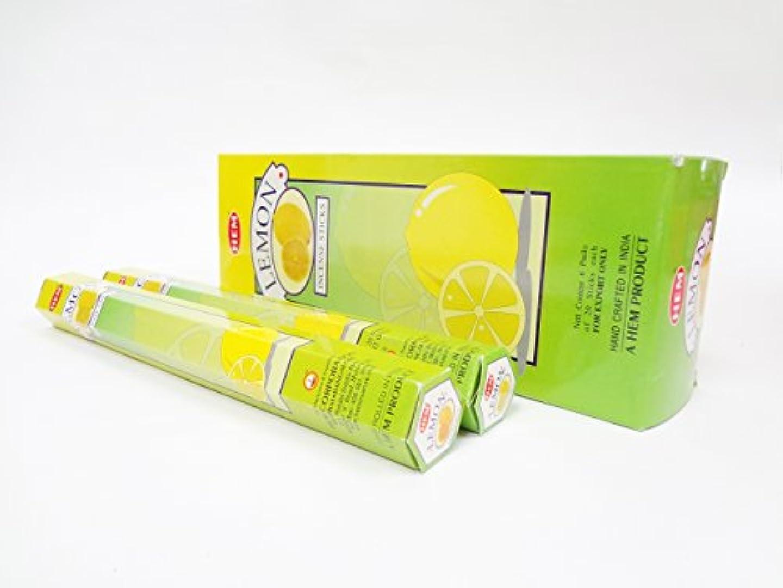 減る消費するひどい【お香 スティック】【リラクゼーション】【レモン】 スティック香 6セット入り 【HEM レモンの香り 爽やかなシトラス系】