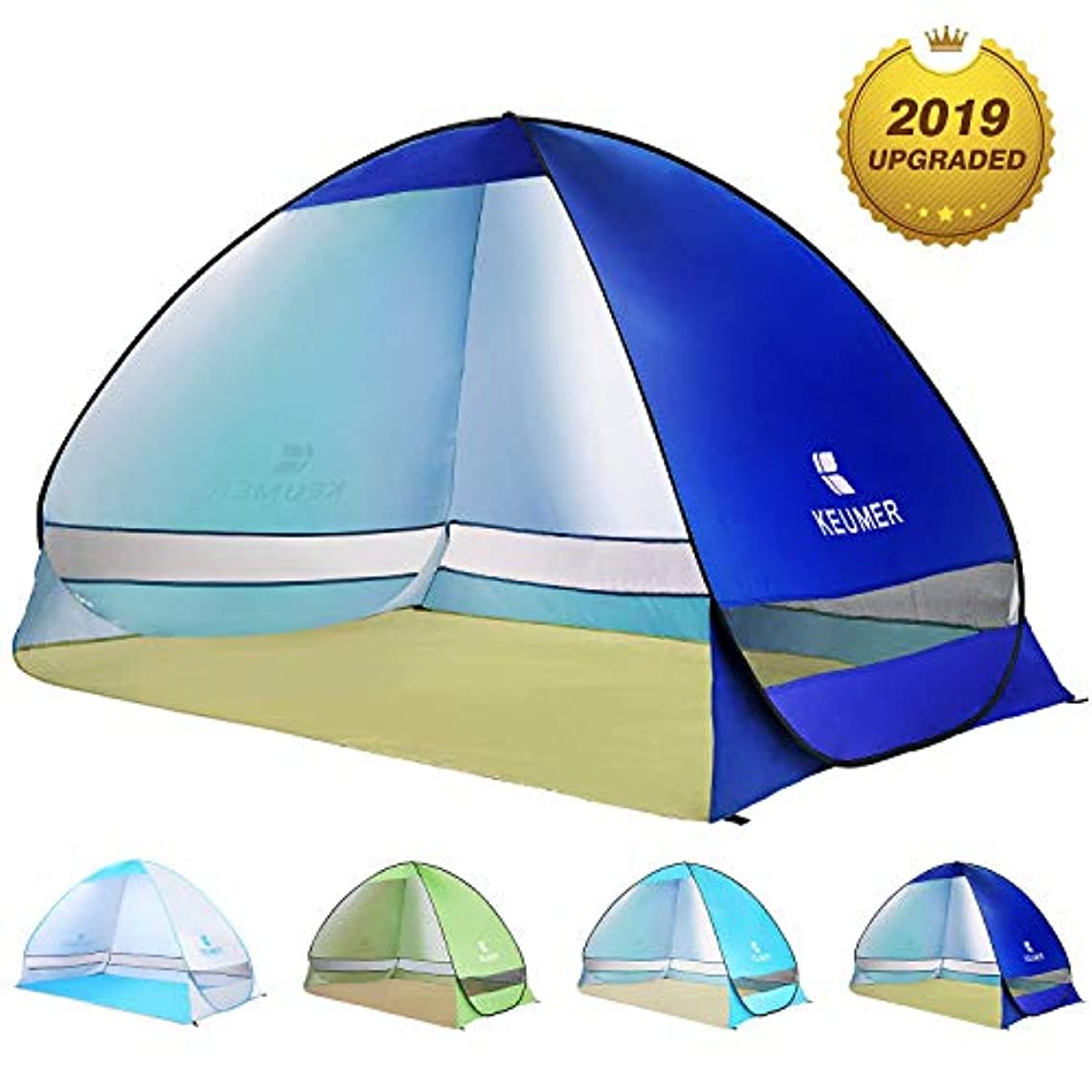 ピーブ行方不明優しさBATTOP Pop Up Beach Tent(テント) Sun Shelter Cabana Anti UV Beach Shelter for 2-3 Person Outdoor Sets up in Seconds(Darkblue) [並行輸入品]