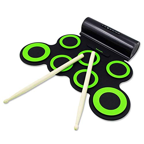Rockpals 電子ドラム ポータブル ドラム 練習用パッド スピーカー内蔵 電池付き MP3・USB・イヤホン対応 マ...