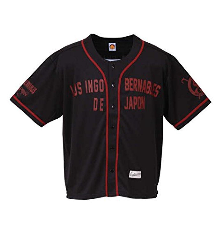 サージビジターアラブ人新日本プロレス L?I?Jベースボールシャツ(3rdモデル/ブラック×レッド) ブラック×レッド 1178-8118-1 [3L?4L?5L?6L] 大きいサイズ メンズ