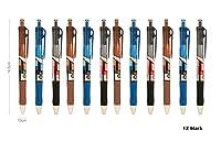hiyou-home格納式プレミアムGelインクローラーボールペン12のセット、ブラックインク