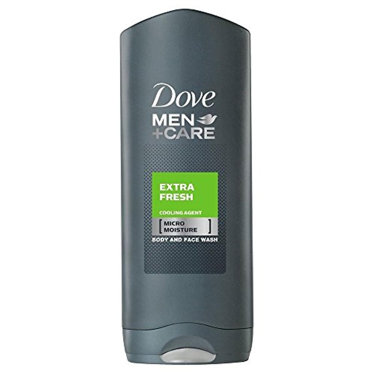 を通して単調なまぶしさDove Men + Care Body & Face Wash - Extra Fresh (250ml) 鳩の男性は+ボディと洗顔ケア - 余分な新鮮な( 250ミリリットル)を [並行輸入品]